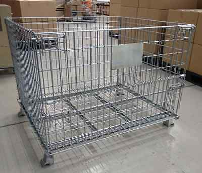 COLLAPSIBLE STACKABLE WIRE MESH STILLAGE 1200x1000x900mm