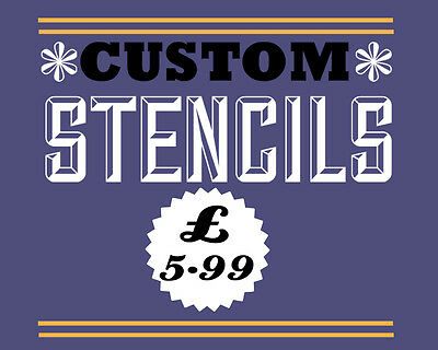 custom stencil A4 - personalised - supply jpeg of logo or picture