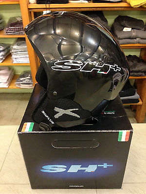 Ski Helmet Casco Sci Adulto Sh+ Pads Senior Adjustable Regolabile Colore Black