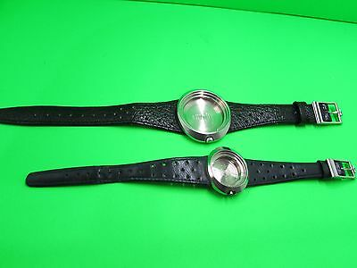 2 X Vintage Omega Dynamic Watch Case 135.033 With Omega Strap And Omega 535.015