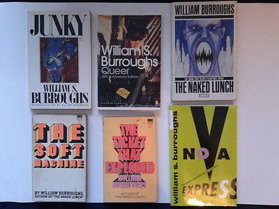 Lot of 22 William S. Burroughs books lot rare complete fiction Junky Queer