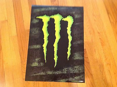 """(2) Monster ENERGY DRINK """"M"""" CLAW POSTERS 22"""" X 15 1/2"""" BRAND NEW!"""