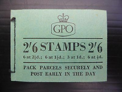 GB Wilding Oct 1956 - 2/6 Booklet F47 Cat £40 SEE BELOW NEW PRICE FP8201