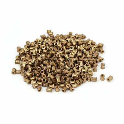 M2 x 4mm 3.2mm OD Brass Injection Molding Threaded Knurled Thumb Nut 500PCS
