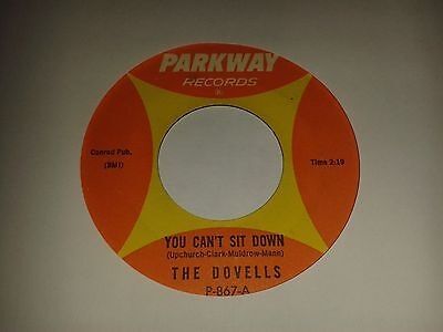 """The Dovells - """"You Can't Sit Down""""  (U.S) 7"""" (1963) / """"Stompin' Everywhere """""""