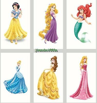 1-100 Disney Princess Temporary Tattoos Kids Girls Party Favors Bag Filler