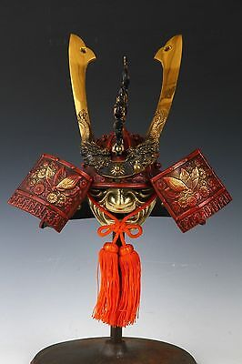 Japanese Stunning Red Helmet -SAMURAI HELMET- Butterfly and Dragon with a mask