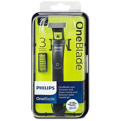 Original PHILIPS ONE BLADE QP 2520/20 Styler Trimmer with 3 combs rechargeable