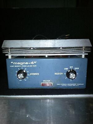 Cole-Palmer MAGNE-4 4 unit place simultaneous Stirrer and Hot Plate