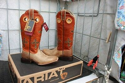 38-9 Ariat Ranchero womens 7B western boots Tawny/Sunset was 239.95