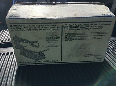 """New Old Stock Box Craftsman Scroll Saw 16"""" variable speed bench-top saw"""
