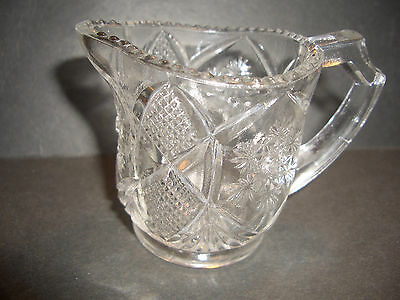 "Antique Child's Creamer By Cambridge Glass Co. ""fernland"" Not Reproduced"