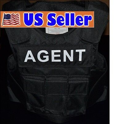 AGENT TAG // 3A SIZE LARGE Body Armor Bullet Proof / Stab Proof  Vest NEW!!!