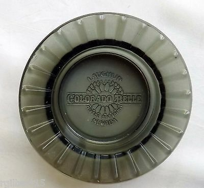 Colorado Belle Laughlin Casino Nevada Round Flared Smoked Embossed Glass Ashtray