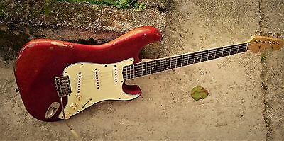 PRE - CBS 1962 Candy Apple Red Sparkle Series Electric Guitar