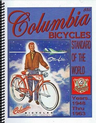 classic COLUMBIA Bicycle BOOK Westfield POST WAR for antique bikes