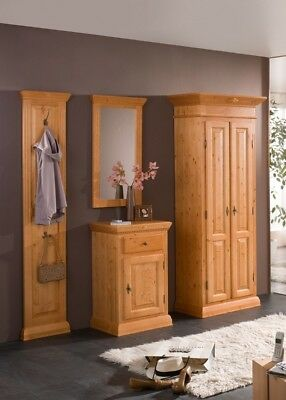 wandgarderobe massiv holz antik eur 25 00 picclick de. Black Bedroom Furniture Sets. Home Design Ideas