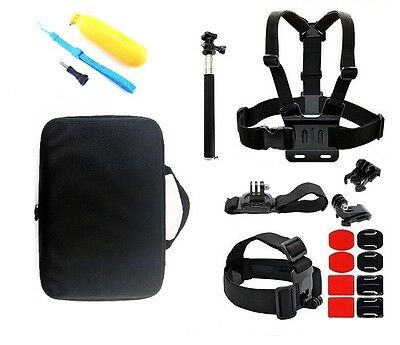 Chest Head Mount Floating Monopod Kit Combo Accessories For GoPro 1 2 3 4 Camera