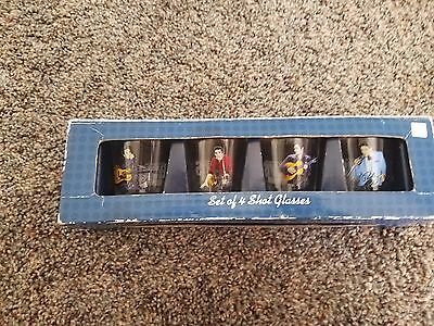 NEW in Box Elvis Presley Shot Glasses Set of 4..GREAT GIFT