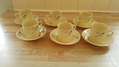 Alfred Meakin Royal Marigold set of 6 cups and saucers Tea/Coffee set