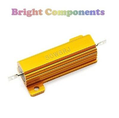 50W Aluminium Clad Power Resistor - 6.8 Ohms (6R8 / 6.8R) - 1st CLASS POST