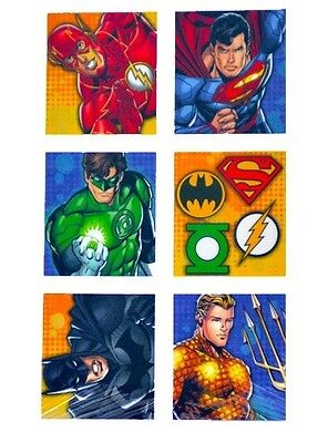JUSTICE LEAGUE ~ (24) Stickers ~ Birthday Party Supplies The Flash Superman