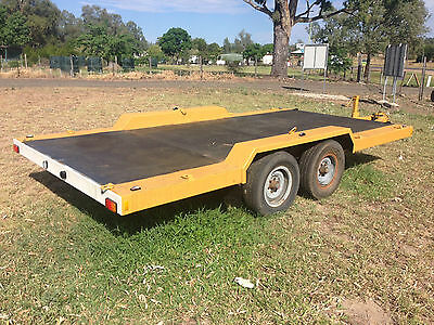 4.5T Trailer, Victorian Trailers Heavy Duty, Tandem, 3.5, Car, Bobcat, plant,