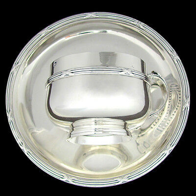 Antique French Sterling Silver Tea / Coffee Cup & Saucer Set, Henin & Cie