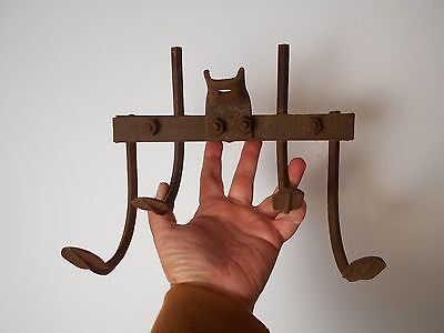 Vintage Collectible rusty Farm Hand Plow Blade Part Tines BARN ART DECOR