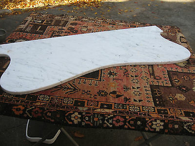 ANTIQUE  WHITE MARBLE SLAB TABLE COUNTER or BATHROOM TOP w/ GRAY VEINS