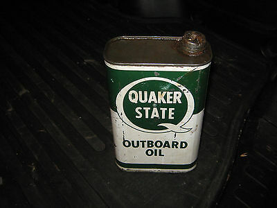 Quaker State Outboard Oil One Quart Can Empty