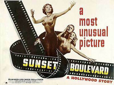 SUNSET BLVD. Movie POSTER 22x28 Half Sheet