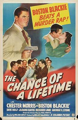 THE CHANCE OF A LIFETIME Movie POSTER 27x40