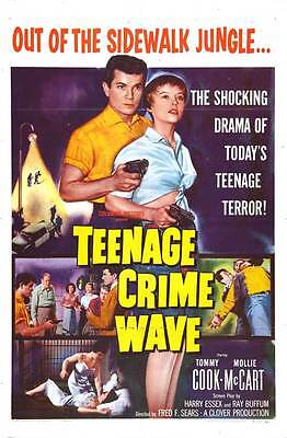 TEEN-AGE CRIME WAVE Movie POSTER 27x40