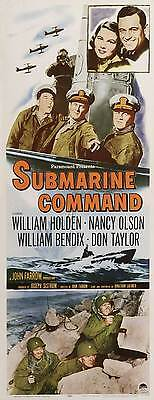 SUBMARINE COMMAND Movie POSTER 14x36 Insert