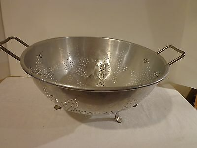 Vintage 7 Star Aluminum Foot Colander Strainer with Handles 11 Inches