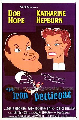 THE IRON PETTICOAT Movie POSTER 27x40 Bob Hope Katharine Hepburn Noelle