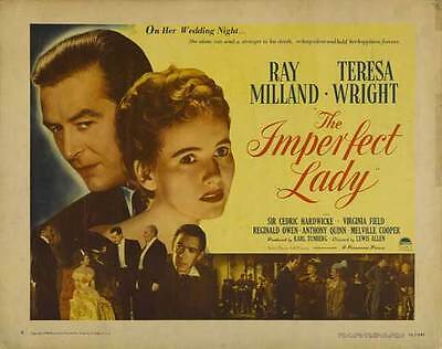 THE IMPERFECT LADY Movie POSTER 22x28 Half Sheet Ray Milland Teresa Wright