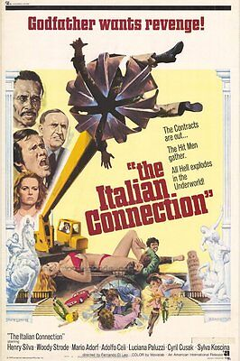 THE ITALIAN CONNECTION Movie POSTER 27x40 Henry Silva Woody Strode Mario Adorf