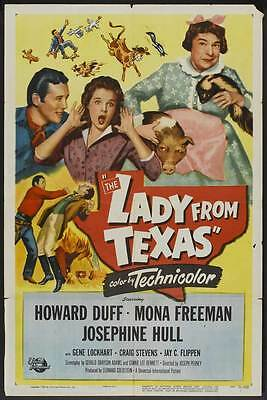 THE LADY FROM TEXAS Movie POSTER 27x40