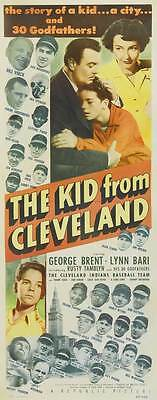 THE KID FROM CLEVELAND Movie POSTER 14x36 Insert George Brent Lynn Bari Russ