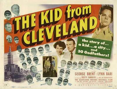THE KID FROM CLEVELAND Movie POSTER 22x28 Half Sheet George Brent Lynn Bari Russ
