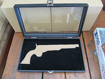 """1860 Colt DISPLAY CASE collectible ball and cap pistol 14 1/4"""" l x 7 7/8"""" w"""
