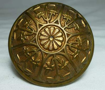 Eastlake Victorian Decorative Brass Collector Door Knob 2 Sided Design