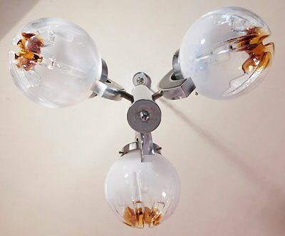 Murano Glass Sciolari Inspired 3 Light Vintage Chandelier