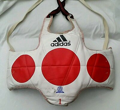 VTG adidas Original TAEKWONDO BODY PROTECTOR XS rare padded chest guard sparring
