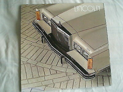 Lincoln range brochure 1982