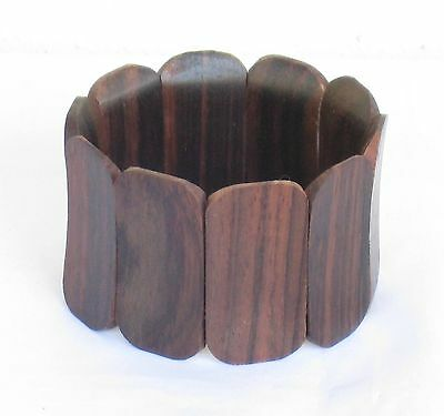 Hand Carved Hand Made Beautiful Sono Wood Elasticated Bracelet (Design 4).....