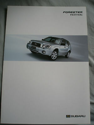 Subaru Forester Festival brochure Sep 2004 German text