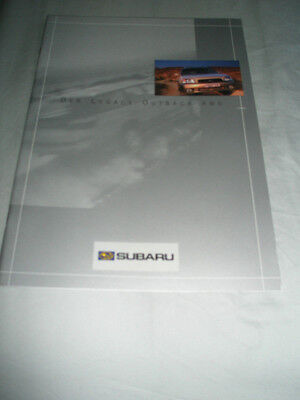 Subaru Legacy Outback AWD range brochure Dec 1998 German text